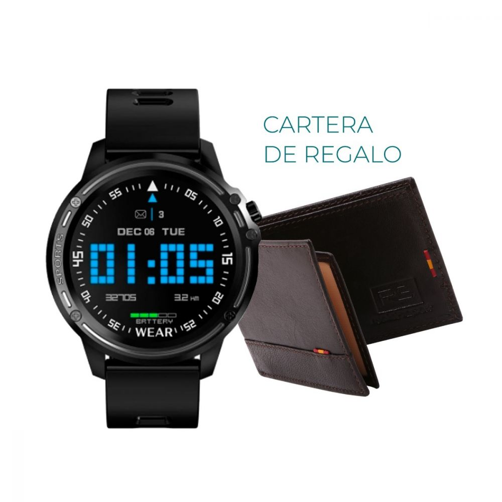 Reloj Smartwatch RS negro y gris