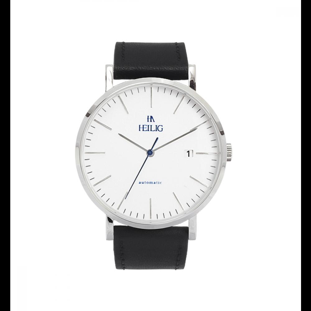 Reloj Heilig Cuero Negro Grande