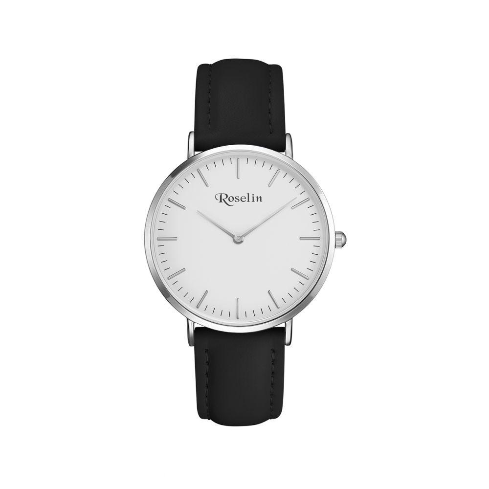 Reloj hombre piel y acero Roselin Watches