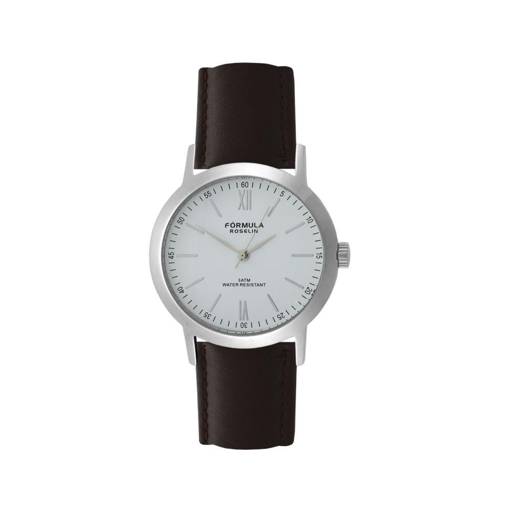 Reloj hombre piel y acero Fórmula Roselin