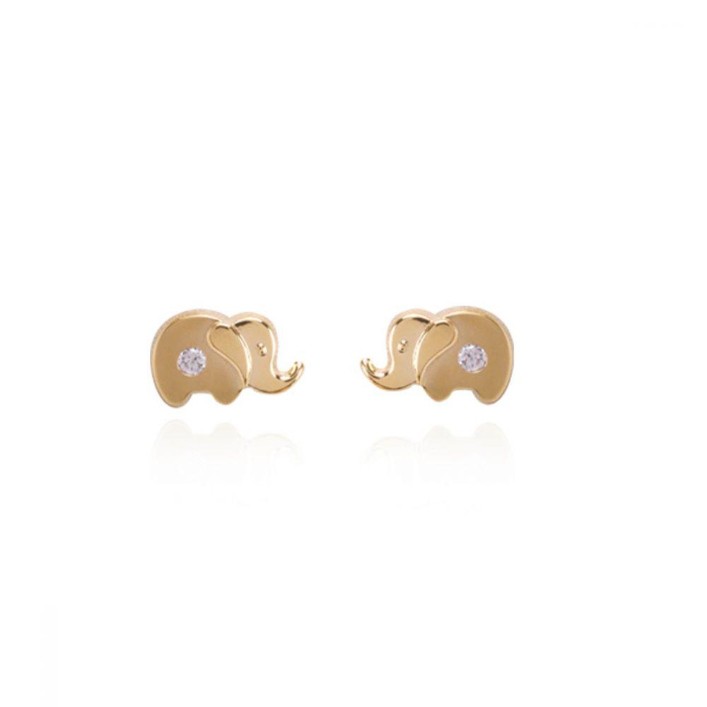 Pendientes oro 18k elefantes