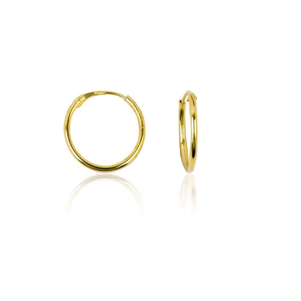 Aros oro ley 18k 1mm