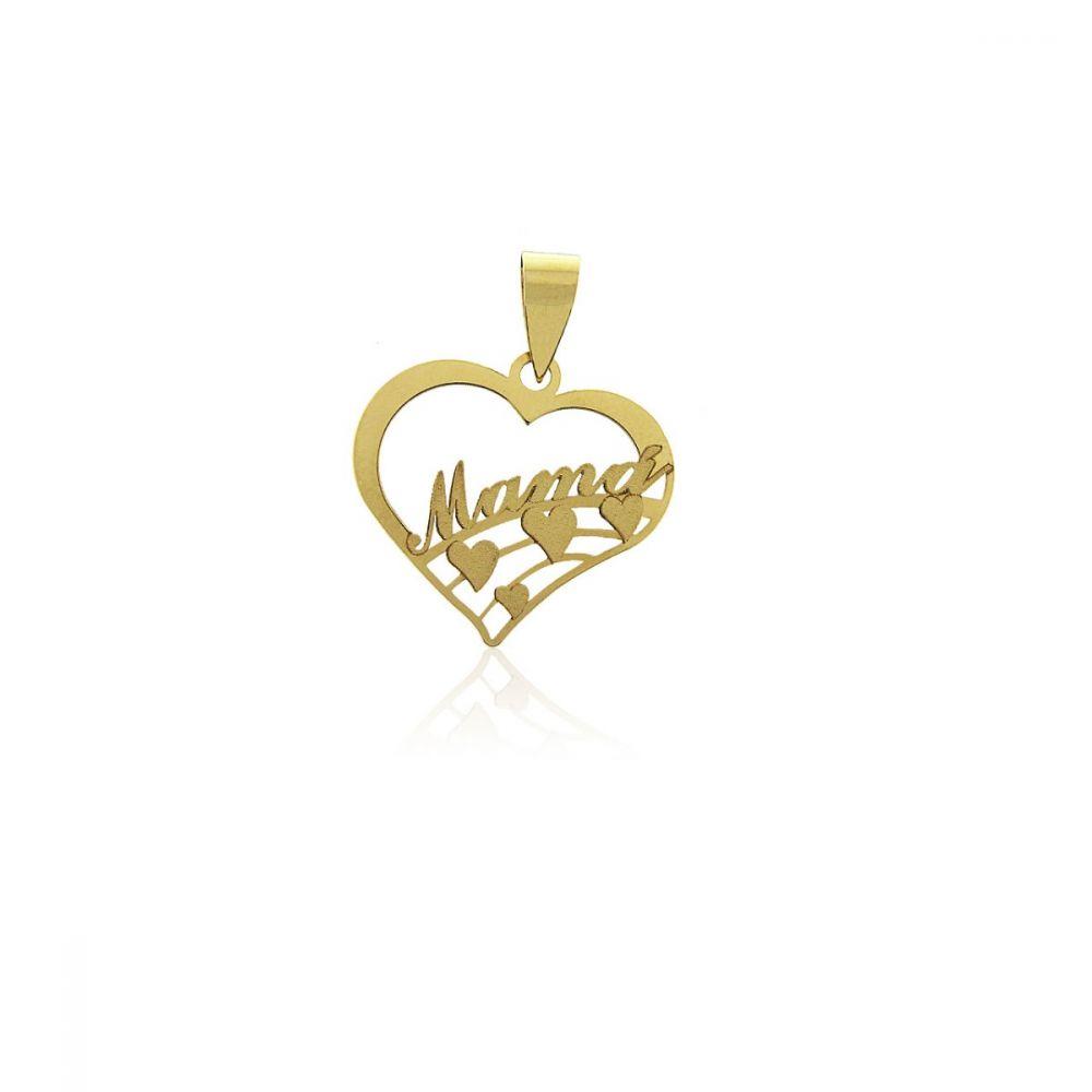 Colgante mama Oro 18k corazones