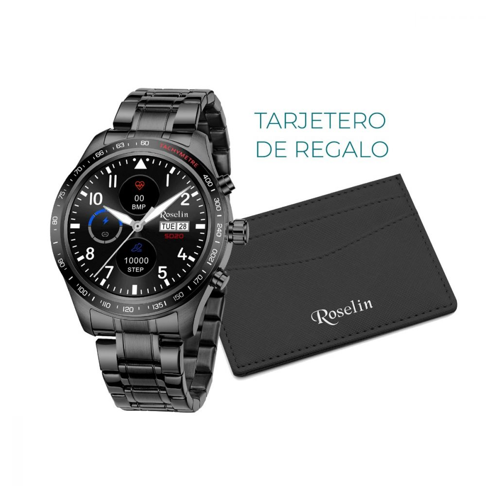 Roselin Smartwatch Armys negro doble correa